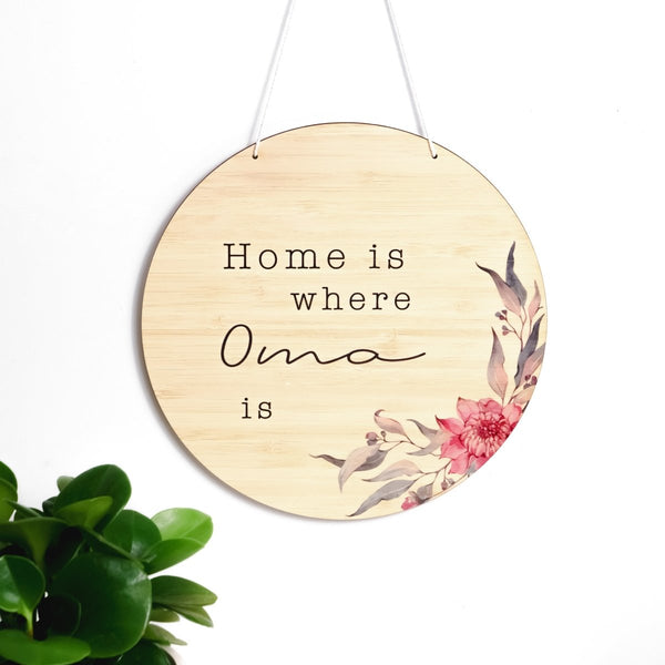 'Home Is Where...' Round Plaque - Natives