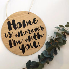 Home Is With You Bamboo Plaque - Arlo and Co