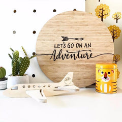 'Let'S Go On An Adventure' Wall Plaque - Arlo and Co