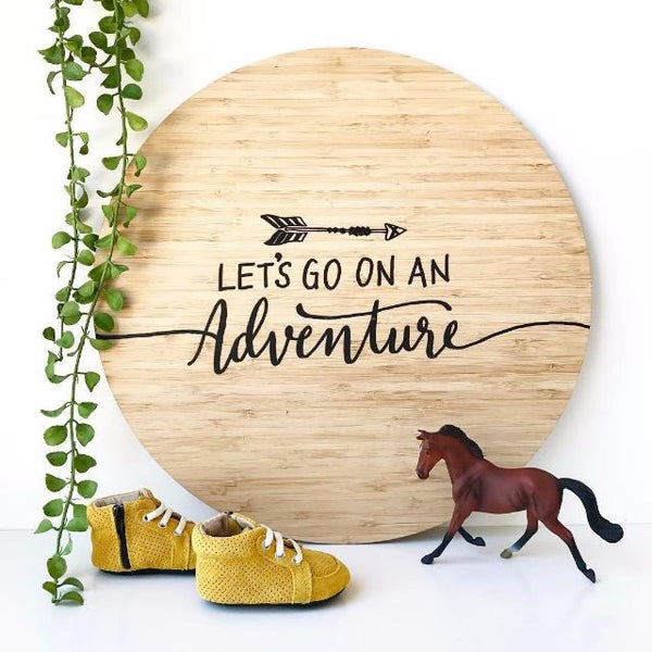 'Let'S Go On An Adventure' Wall Plaque