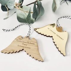 Luxe Angel Wing Ornament - Arlo & Co