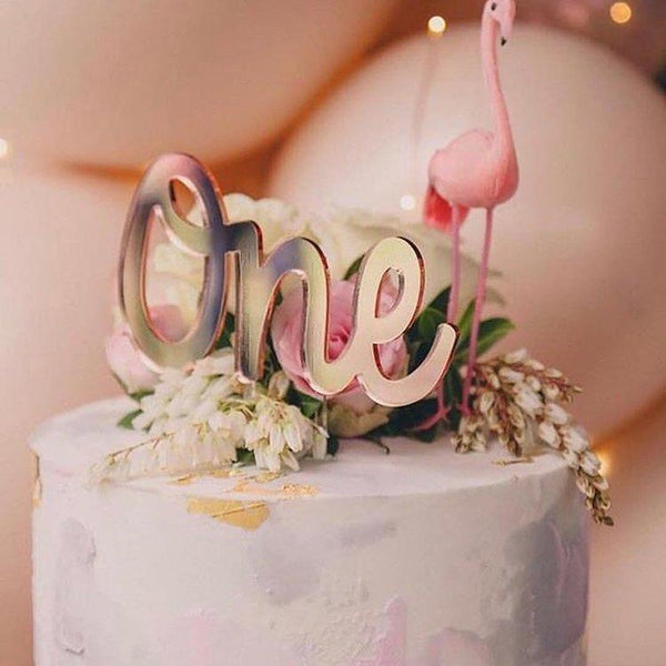Mirror Name Cake Topper