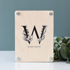Monogram Flower Press - Arlo and Co