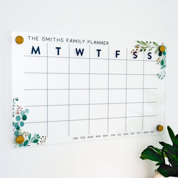 Monthly Family Planner - Eucalyptus Design