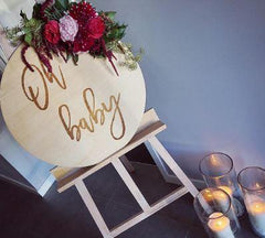 'Oh Baby' Etched Sign - Arlo and Co