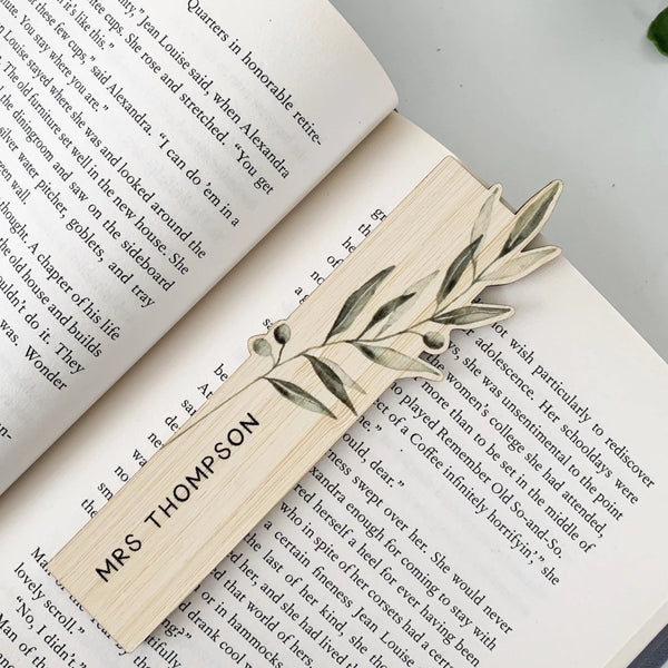 Personalised Bamboo Bookmark