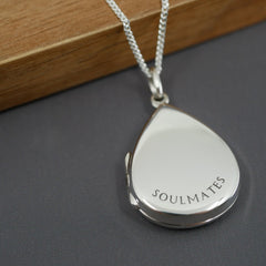 Personalised Droplet Locket Necklace - Arlo and Co