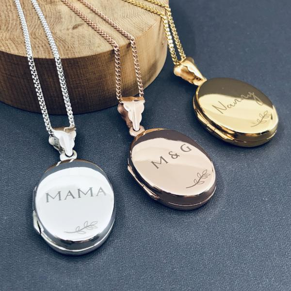 Personalised Locket Necklace - Large
