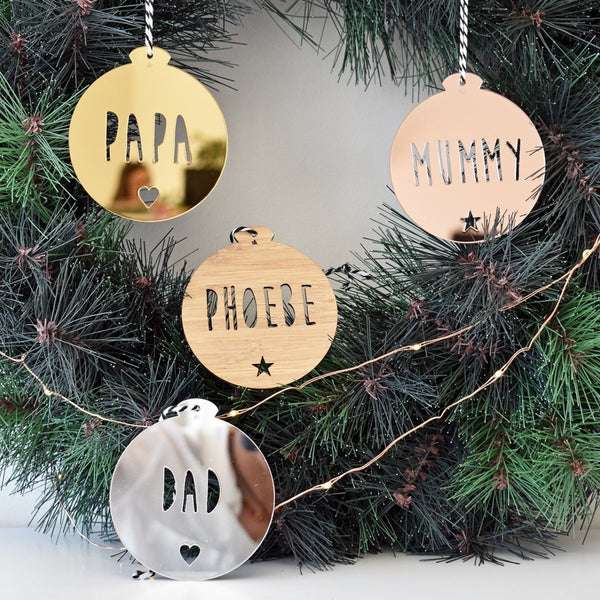 Personalised Ornament - Capitals Font
