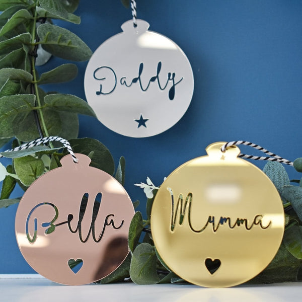 Personalised Ornament - Cursive Font