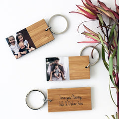 Personalised Photo Keytag (Bamboo) - Arlo and Co