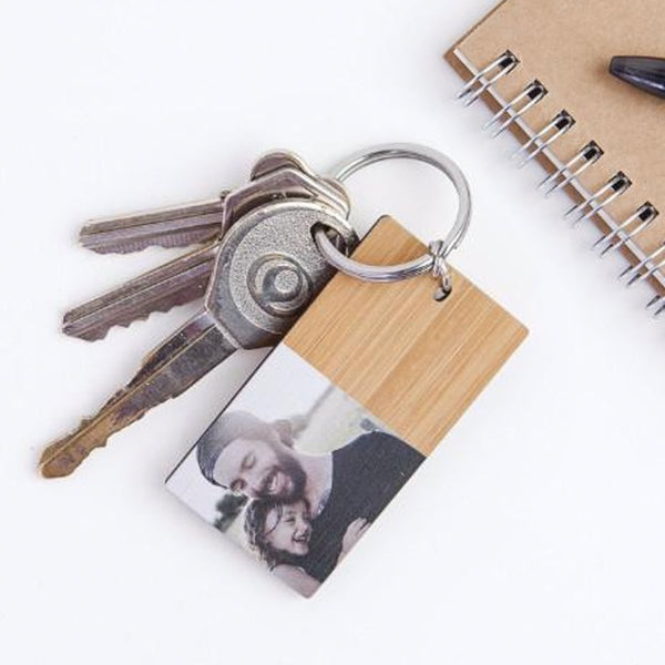 Personalised Photo Keytag (Bamboo)