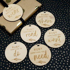 Personalised Simplicity Gift Tags - Set of 6 - Arlo & Co