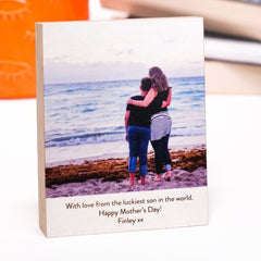 Personalised Timber Photo Block - Arlo & Co