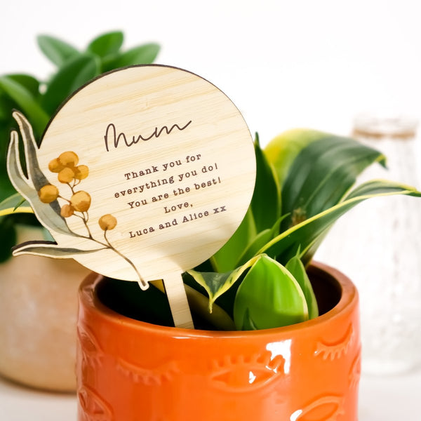 Printed Mother's Day Planter Stick