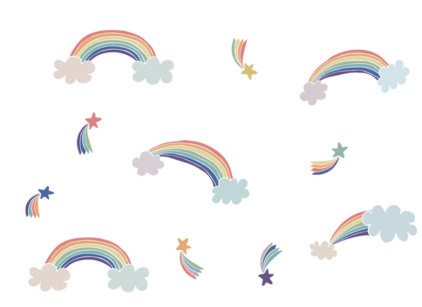 RAINBOW WALL STICKER SET