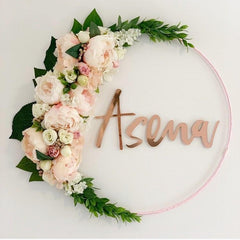 Rose Gold Mirror Name Plaque - 4 Fonts, 3 Sizes - Arlo and Co