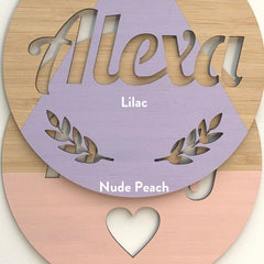 Round Customised Name Plaque - Arlo & Co