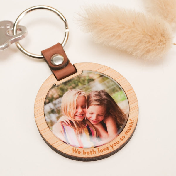 Round Luxe Photo Keytag