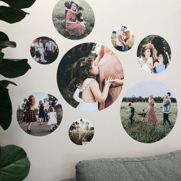 Round Photo Decal Set - Small (X 4)