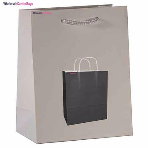 Product launch bespoke design on matt laminated boutique gift bags
