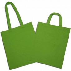 Green Cotton Bags with Long and Short Handle