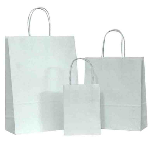 Twisted Handle White Paper Carrier Bags