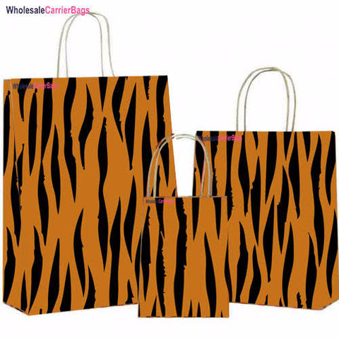animal imprint bespoke design in matt laminated boutique gift bags