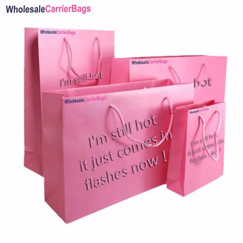 humour bespoke branding on matt laminated boutique gift bags