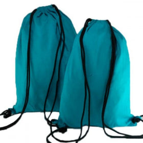Aqua Blue Natural Cotton Backpack Bags
