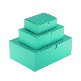 Aqua Green Gift Box Gloss Laminated Rectangle - 1 Piece