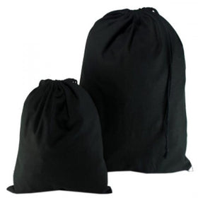 Black Natural Cotton Drawstring Bags