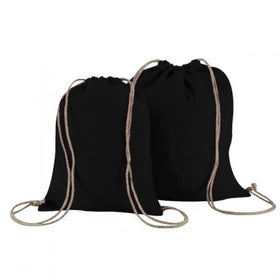 Black Natural Jute Backpack Bags