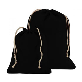 Black Natural Jute Drawstring Bags