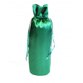 Bottle Green Satin Wine Bags