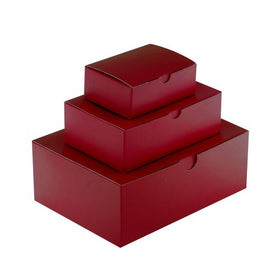 Burgundy Gift Box Gloss Laminated Rectangle - 1 Piece