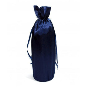 Deep Blue Satin Wine Bags