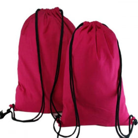 Fuchsia Natural Cotton Backpack Bags