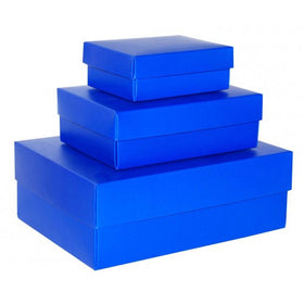 Royal Blue Rectangle Gloss Laminated Gift Boxes - 2 Pieces