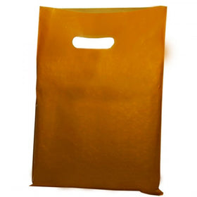 Gold Plastic D-Cut Carrier Bags