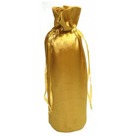 Gold Satin Wine Bags