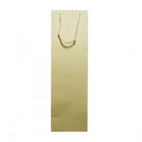 Solid Gold Gloss Laminated Wine Bag Rope Handle