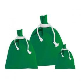 Green Canvas Drawstring Pouch Bags