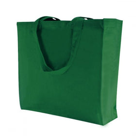 Green Canvas Gusset Bags