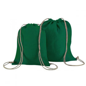 Green Natural Jute Backpack Bags