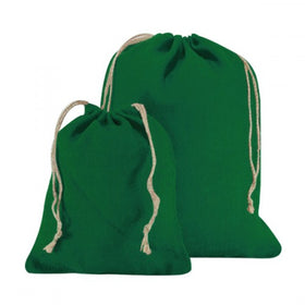 Green Natural Jute Drawstring Bags