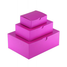 Hot Pink Gift Box Gloss Laminated Rectangle - 1 Piece