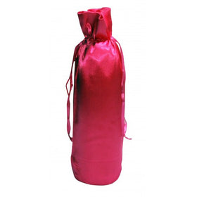 Hot Pink Satin Wine Bags