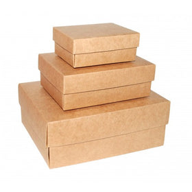 Brown Kraft Gift Boxes Rectangle - 2 Pieces