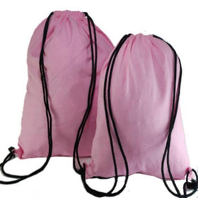 Light Pink Natural Cotton Backpack Bags